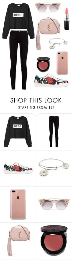 """""""ootd"""" by therealnajwa on Polyvore featuring WithChic, Gucci, Alex and Ani, Belkin, Jimmy Choo, Yves Saint Laurent, Bobbi Brown Cosmetics and MAC Cosmetics"""
