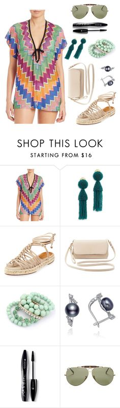 """Bohemian Look"" by dindydind on Polyvore featuring Missoni Mare, Oscar de la Renta, Chloé, Charlotte Russe, Ruby Rocks, Lancôme, Ray-Ban, women's clothing, women and female"