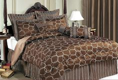 11PC BED-IN-A-BAG OLYMPIA CHOCO-INCLUDES 600TC SHEET SET!