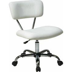 Ave Six Vista Task Office Chair, White Vinyl