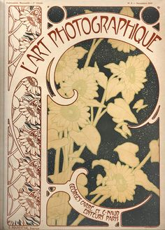 L'Art Photographique: 1899-1900 Cover art allegedly by Alphonse Mucha