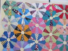 AWESOME Vintage Quilt  WAGON WHEEL  Pattern Variation