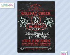 Christmas Party Invitations (521) Blackboard #Christmas #holiday #party #invitations #chalkboard #blackboard