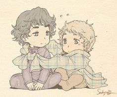 Sadyna's Blog - baby Sherlock and John. A friend set this as my phone background...