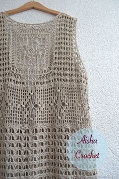 "Fotos von ""Aisha Creative"" handgefertigter Kleidung - My CMS Crochet Cover Up, Knit Crochet, Crochet Summer Tops, Tunic Pattern, Loose Fitting Tops, Crochet Woman, Crochet Cardigan, Crochet Fashion, Crochet Clothes"