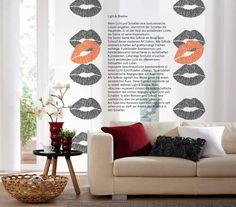 "Exklusive Flächenvorhang Kollektion ""art Edition Alla GrAnde"" by Teba GmbH & Co. KG_KISS ME"