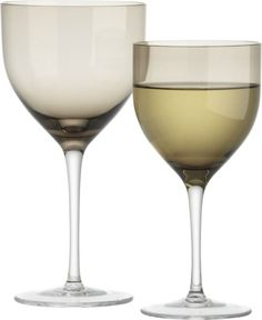 Welcome Grey Wine Glasses    Crate and Barrel