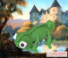 Patrón tutorial para tejer la mascota de la Princesa Rapunzel en la película enredados: Pascal el Camaleón.