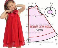 Resultado de imagen para pinterest moldes de vestidos de niñas