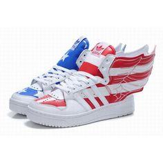 best service 4f0c8 8a9d8 Luxury Womens Jeremy Scott Adidas American Flag Wings 2.0 For £80.96 Jeremy  Scott Adidas,