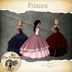 Berry Applicious Princess [Lins Creations] - Three cute little Princesses for your kits CU/PU