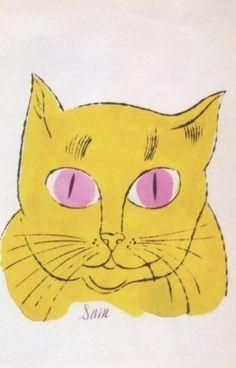 sam the cat, warhol