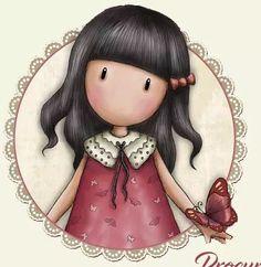 Gorjuss Diviant Art, Cute Cartoon Girl, Girl Clipart, Valentine Greeting Cards, Mandala Drawing, Holly Hobbie, Kids Cards, Disney Art, Cute Drawings