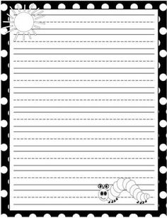 FREE! The Very Hungry Caterpillar Lined Writing Paper!