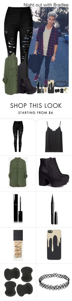 """""""Night out with Bradlee Wannemacher"""" by lillysfashion ❤ liked on Polyvore featuring Cacharel, Zara, H&M, Chanel, Marc Jacobs, NARS Cosmetics, Zero Gravity, women's clothing, women and female"""