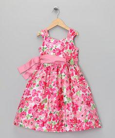 Loving this Pink Blossom Sash Dress - Toddler on #zulily! #zulilyfinds