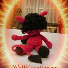 Alle machen Engel wir häkeln kleine Teufel  #amigurumi #häkeln #crochet #ilovehandarbeit #handarbeit #diy #kleinerteufel #teufel #heiß #selbstgemacht #hot #böse #bengel by wolfkreationen
