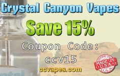 Some October Savings with 15% off all Eliquid by CCVapes using coupon code: ccv15  http://www.ccvapes.com/