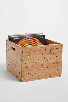 Plum & Bow Confetti Wood Storage Crate - Urban Outfitters