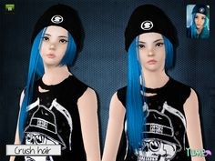 Yume Crush hair with cap by Zauma - Sims 3 Downloads CC Caboodle