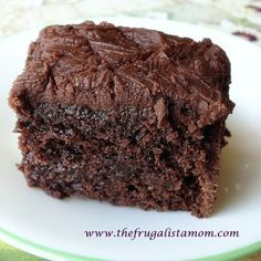 The Frugalista Mom's Allergy Friendly Home : Gluten and Nut Free, Vegan Fudge Chocolate Cake