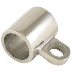 "Whitecap Stanchion Sleeve w-Eye - 316 Stainless Steel - 1"" Tube Eye [6122]"