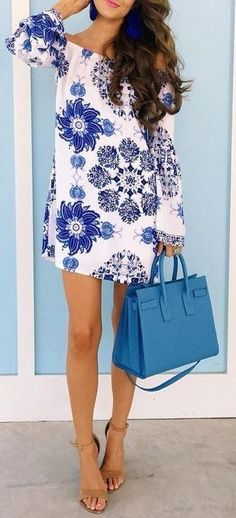 #summer #outfits #inspiration | White Floral Little Dress