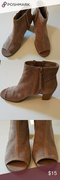 "Mad Love Carly Ankle Bootie Brand new never worn tan ankle booties.  The material is a super soft suede mesh material.  Heel is 3"" Mad Love Shoes Ankle Boots & Booties"