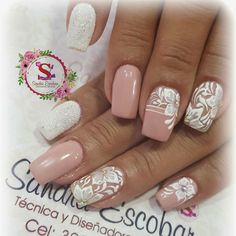 Very classy. Gelish Nails, Diy Nails, Cute Nails, Pretty Nails, Bride Nails, Wedding Nails, Spring Nails, Summer Nails, Unicorn Nails