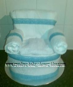 Learn how to make a creative diaper chair craft as a baby shower gift or centerpiece. Easy step by step instructions to create your own!