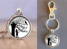 To Kill A Mockingbird - Black and White - Glass Pendant - Your Choice of Necklace or Keychain