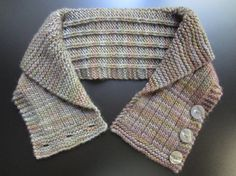 3 Button Cowl or Neckwarmer with a Rolled Shawl Collar, Made with Soft, Handpainted Wool in Shades of Gray, Olive Green, Medium Tan - Moda Cowl Scarf, Knit Cowl, Shawl, Knit Crochet, Crochet Hats, Knitting Blogs, Hand Knitting, Knitting Patterns, Knitting Accessories