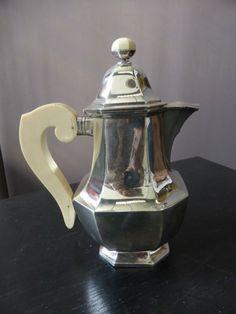Art Déco - Service à thé et café - Argent Massif et Balékite
