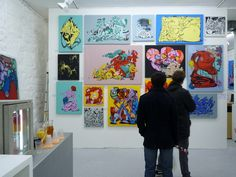 Photos by Vitostreet of new Paris HORFÉE exhibition untitled: Hard Comix