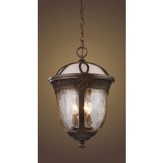 Westmore Lighting 11-in W Windsor Hazelnut Bronze Pendant Light with Frosted Shade