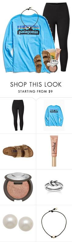"""i'd rather have Jesus."" by emilyandella ❤ liked on Polyvore featuring Venus, Patagonia, Birkenstock, Too Faced Cosmetics, Becca, Avery, Honora and plus size clothing"