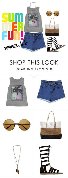 """""""go go"""" by sara03139 ❤ liked on Polyvore featuring Billabong, Banana Republic, Dorothy Perkins, Dune, beach and summerdate"""