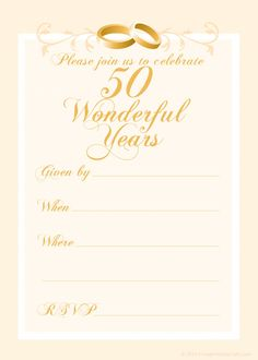Free Th Wedding Anniversary Invitations Templates  Th Wedding