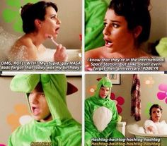 Funniest scene there, with the Artie-Kurt party scene that Mary wrote too... best finale I ever saw.
