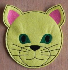 Free Embroidery Designs - Cat Mug Rug Mug Rug Patterns, Quilt Patterns, Crochet Patterns, Cute Embroidery, Embroidery Files, Crochet Humor, Cat Mug, Free Machine Embroidery Designs, Star Quilts