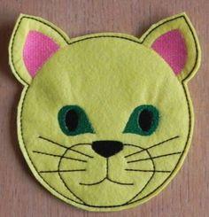 Free Embroidery Designs - Cat Mug Rug