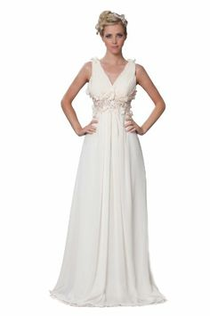 Sexyher Women'S V-Neck Long Evening Prom Dress With Pearls And Flowers Us10 Soy Milk Sexyher,http://www.amazon.com/dp/B00FBDMWPC/ref=cm_sw_r_pi_dp_3iFmtb1RPYRP0S6Q