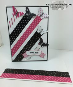 Stamps-N-Lingers.  Pop of Pink Designer Washi Tape and Bitty Butterfly punches from Pop of Pink DSP.  Thoughtful Banners sentiment. https://stampsnlingers.com/2016/05/31/stampin-up-pop-of-pink-butterflies-and-june-special-deals/