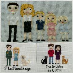 Custom Cross Stitch Family Portrait Family Portrait by StitchACT