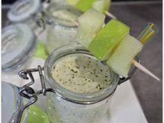 Gaspacho concombre, pomme et menthe