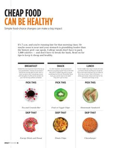 Cheap Food Can Be Healthy