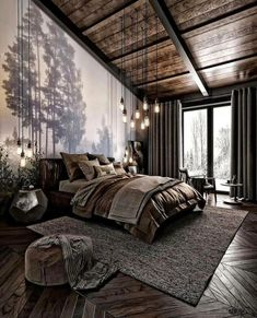 For those looking to make their bedroom look good, adopting a modern bedroom design style isn't actually a bad idea. Here are some easy ways you can redo your bedroom Design bedroom Easy Ways To Remodel A Modern Bedroom + 50 HD Pictures - House Topics Dream Rooms, Dream Bedroom, Master Bedroom, Nature Bedroom, Nature Inspired Bedroom, Loft Style Bedroom, Diy Bedroom, Master Suite, Bedroom Small