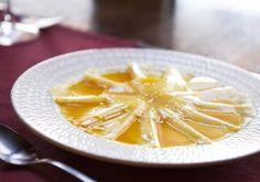 Carapaccio d'ananas @Restaurant l'Escarbille sur mon-assiette.com
