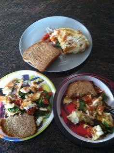 Egg white omelet with Spinach, Tomato, and Mozzarella- My kids eat the ...