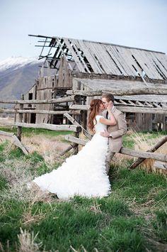 Modest wedding dress Nice background too :)